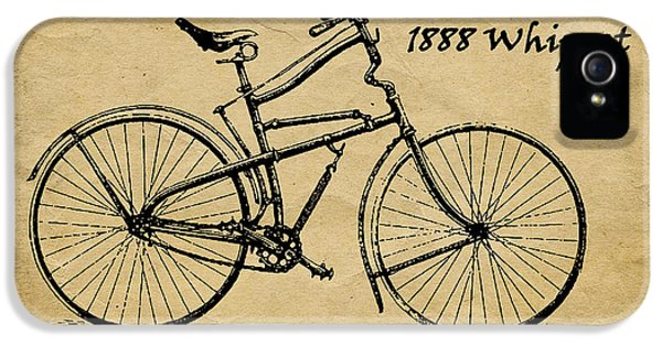Whippet Bicycle IPhone 5 Case by Tom Mc Nemar
