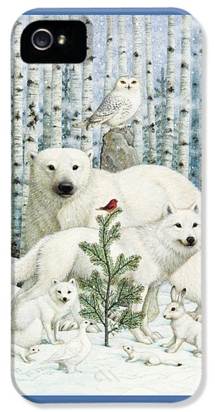 Finch iPhone 5 Case - White Animals Red Bird by Lynn Bywaters