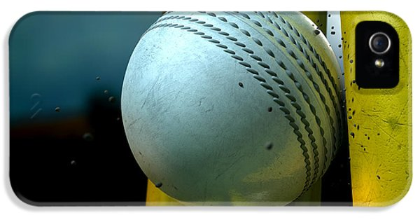 White Cricket Ball And Wickets IPhone 5 Case