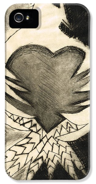 White Dove Art - Comfort - By Sharon Cummings IPhone 5 Case by Sharon Cummings