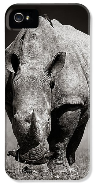 White Rhinoceros  In Due-tone IPhone 5 Case by Johan Swanepoel