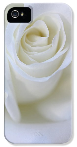 White Rose Floral Whispers IPhone 5 Case by Jennie Marie Schell