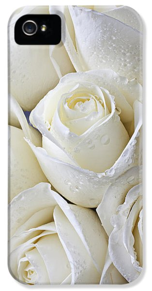 White Roses IPhone 5 Case by Garry Gay
