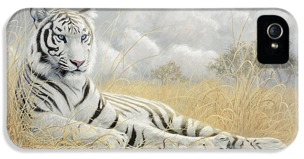 White Tiger IPhone 5 / 5s Case by Lucie Bilodeau