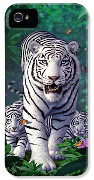 White Tigers IPhone 5 / 5s Case by Jerry LoFaro