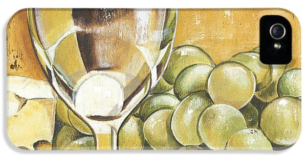 White Wine And Cheese IPhone 5 Case by Debbie DeWitt