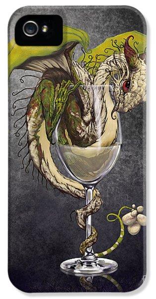 Dragon iPhone 5 Case - White Wine Dragon by Stanley Morrison
