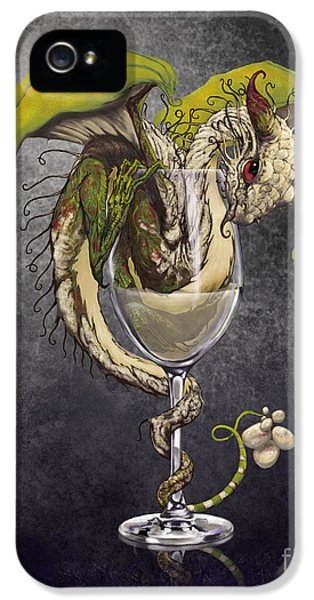 White Wine Dragon IPhone 5 Case by Stanley Morrison