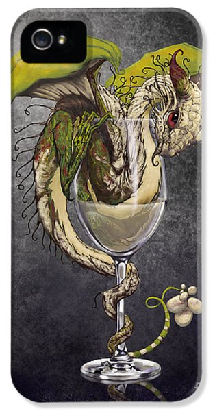 White Wine Dragon IPhone 5 / 5s Case by Stanley Morrison