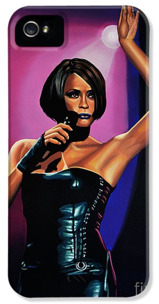 Rhythm And Blues iPhone 5 Case - Whitney Houston On Stage by Paul Meijering