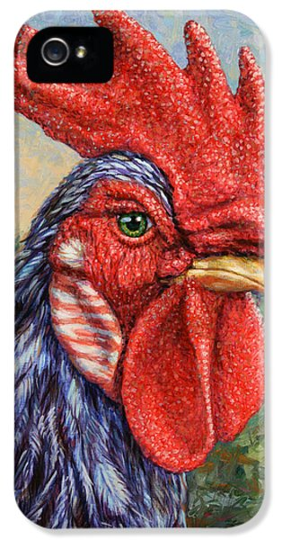 Chicken iPhone 5 Case - Wild Blue Rooster by James W Johnson