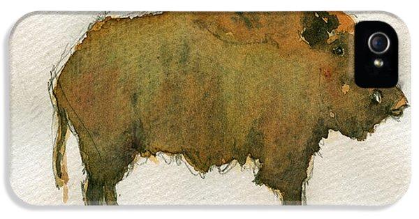 Pig iPhone 5 Case - Wild Boar by Juan  Bosco