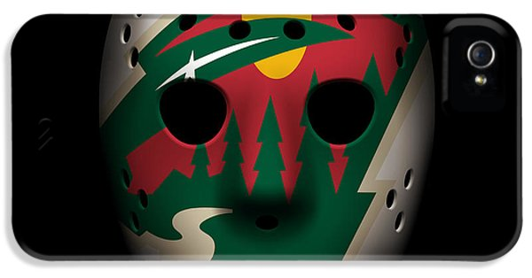 Wild Goalie Mask IPhone 5 Case by Joe Hamilton