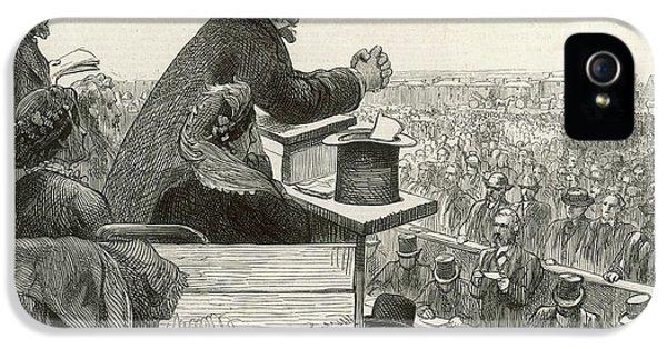 Constituent iPhone 5 Case - William Ewart Gladstone  Addressing by  Illustrated London News Ltd/Mar