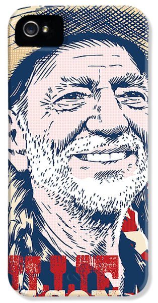 Johnny Cash iPhone 5 Case - Willie Nelson Pop Art by Jim Zahniser