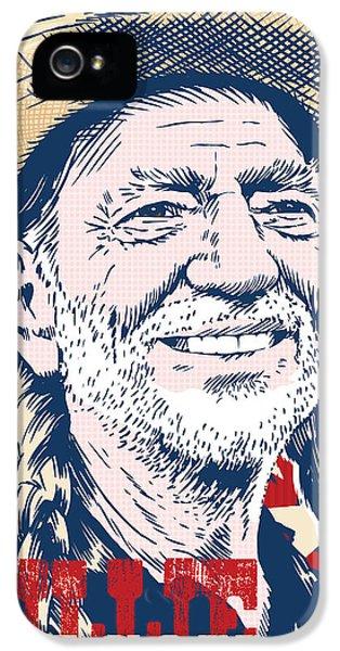 Willie Nelson Pop Art IPhone 5 Case by Jim Zahniser