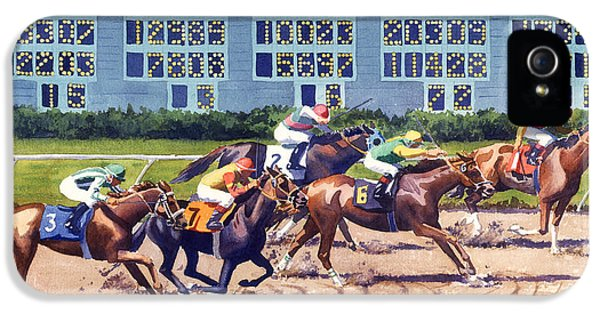 Win Place Show At Del Mar IPhone 5 Case by Mary Helmreich