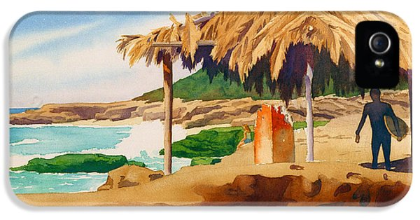 Hut iPhone 5 Cases - Wind n Sea Beach La Jolla iPhone 5 Case by Mary Helmreich