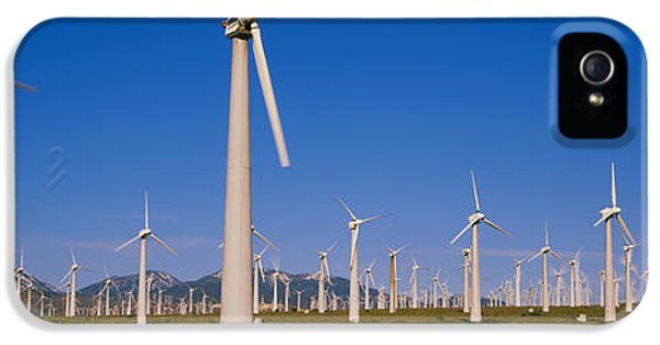 Wind Turbines In A Field, Mojave IPhone 5 Case by Panoramic Images