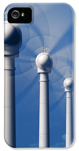 Wind Turbines In Motion From The Front IPhone 5 Case by Johan Swanepoel
