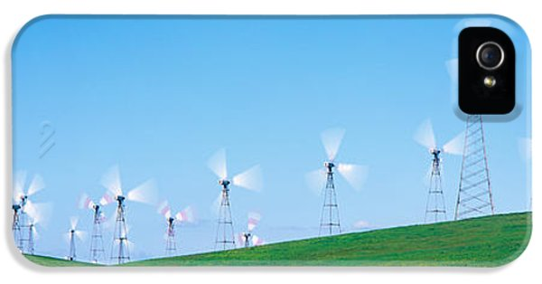 Wind Turbines Spinning On Hills IPhone 5 Case by Panoramic Images