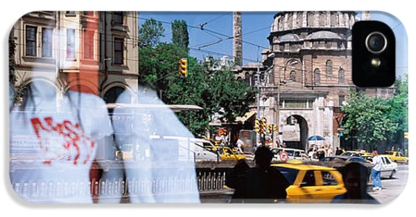 Window Reflection, Istanbul, Turkey IPhone 5 Case by Panoramic Images