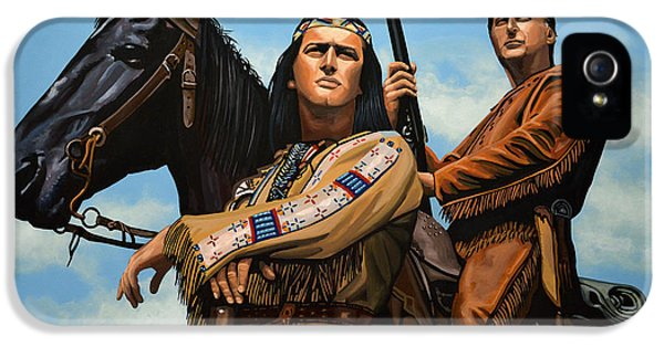 Winnetou And Old Shatterhand IPhone 5 Case by Paul Meijering