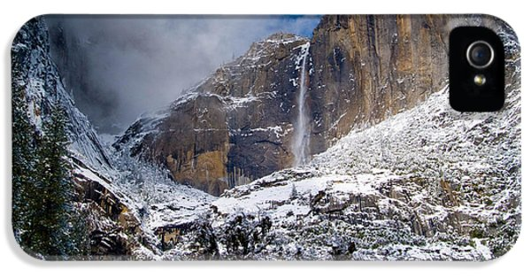 Winter At Yosemite Falls IPhone 5 Case