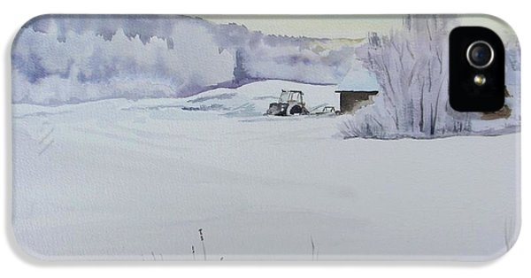 Winter Blanket IPhone 5 Case by Martin Howard