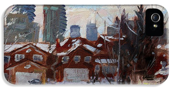 Winter In Mississauga  IPhone 5 Case by Ylli Haruni