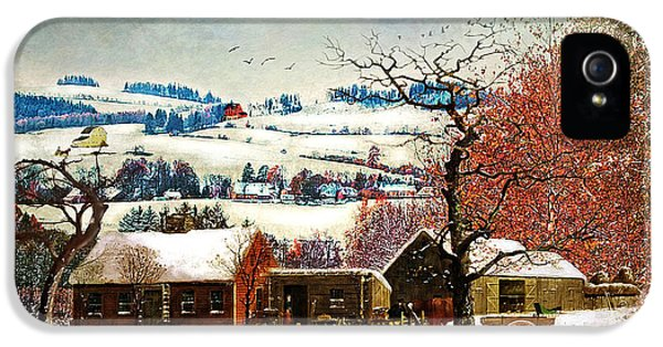Winter In The Country Folk Art IPhone 5 Case