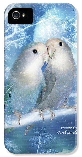 Lovebird iPhone 5 Case - Winter Love by Carol Cavalaris