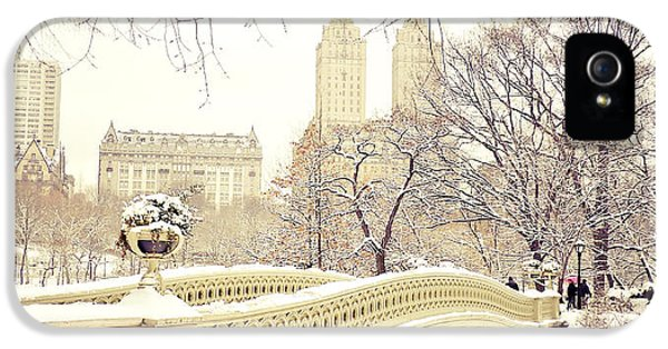 Winter - New York City - Central Park IPhone 5 Case