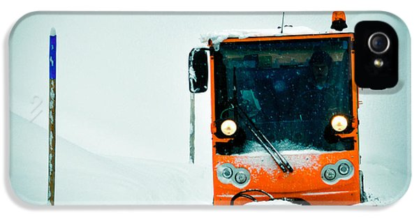 Orange iPhone 5 Case - Winter Road Clearance by Matthias Hauser
