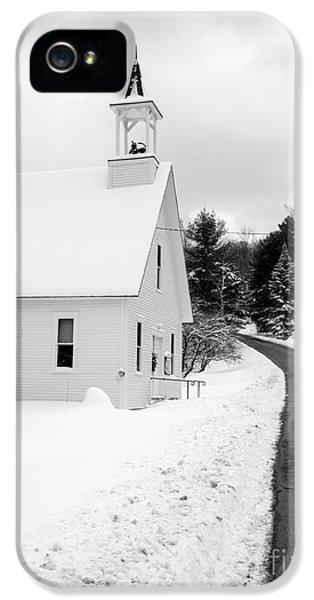 Winter Vermont Church IPhone 5 Case
