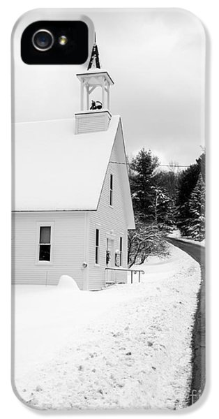 Winter Vermont Church IPhone 5 Case by Edward Fielding