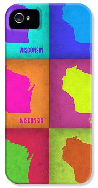 Wisconsin Pop Art Map 2 IPhone 5 Case by Naxart Studio