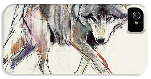 Wolf iPhone 5 Case - Wolf  by Mark Adlington