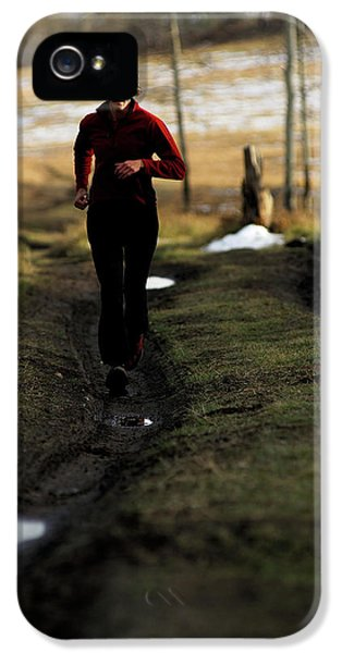 Breathe iPhone 5 Case - Woman Trail Running In Jackson by Rich Wheater