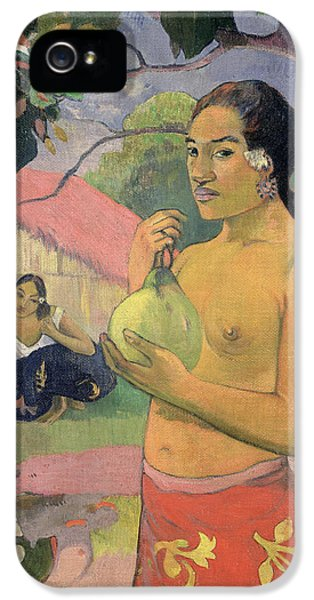 Woman With Mango IPhone 5 Case