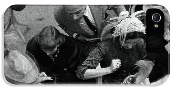 Women Shopping At Mr. John IPhone 5 Case by Constantin Joff?