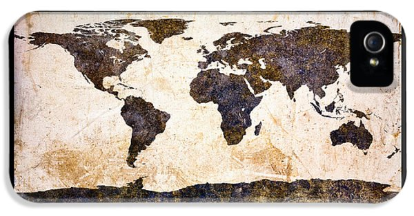 World Map Abstract IPhone 5 Case by Bob Orsillo