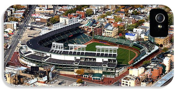 Wrigley Field Chicago Sports 01 IPhone 5 Case by Thomas Woolworth