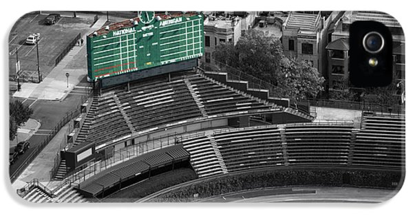 Wrigley Field Chicago Sports 04 Selective Coloring IPhone 5 Case by Thomas Woolworth