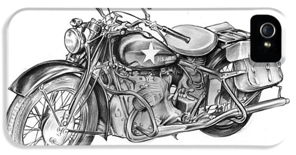 Ww2 Military Motorcycle IPhone 5 Case