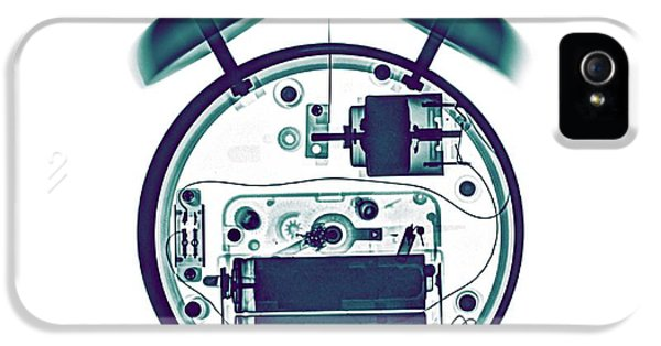 X-ray Of A Mechanical Alarm Clock IPhone 5 Case by Photostock-israel