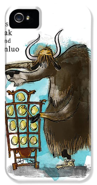 Y Is For Yak IPhone 5 Case by Sean Hagan