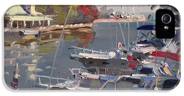 Yachts In Port Credit  IPhone 5 Case by Ylli Haruni
