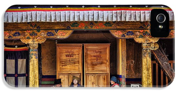 Yak Butter Tea Break At The Potala Palace IPhone 5 Case by Joan Carroll