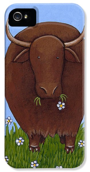 Whimsical Yak Painting IPhone 5 Case by Christy Beckwith